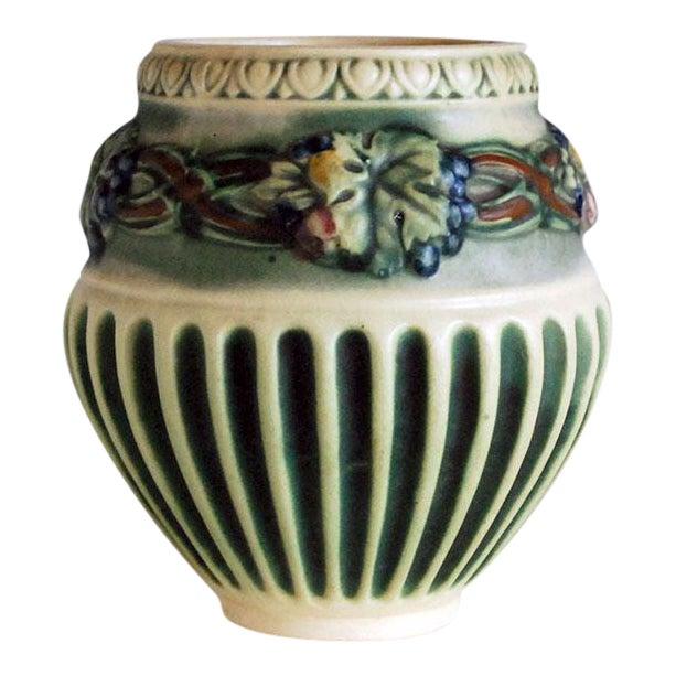 1920s Roseville Pottery Corinthian Jardeniere Planter Vase - Image 1 of 6