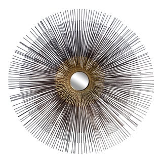 1990s Curtis Jere Inspired Triple Layer Metal Sunburst Wall Sculpture For Sale