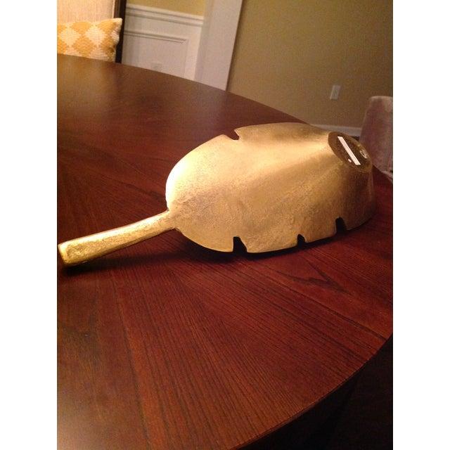 Banana Leaf Gold Decorative Tray For Sale In Atlanta - Image 6 of 13