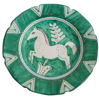 Hand-Painted Italian Horse Plate For Sale