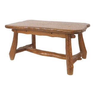 1940s Rustic Adirondack Pine Dining Table For Sale