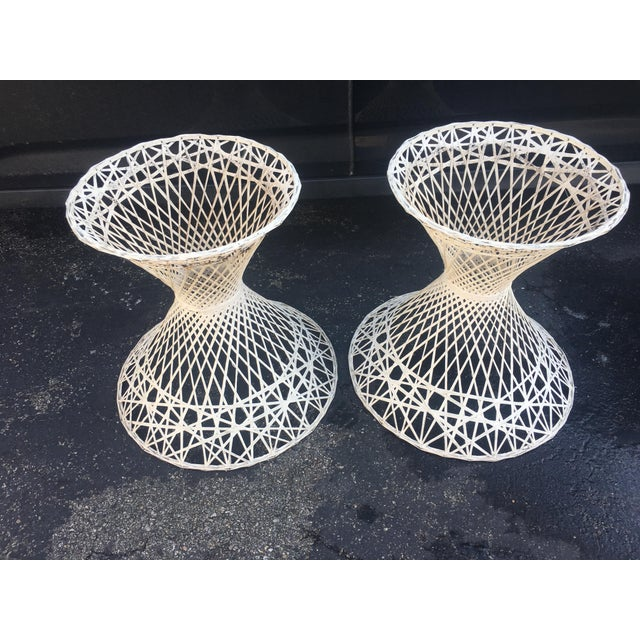 Vintage Russell Woodward sounds fiberglass woven planters. They are white fiberglass and you can easily place a woven...