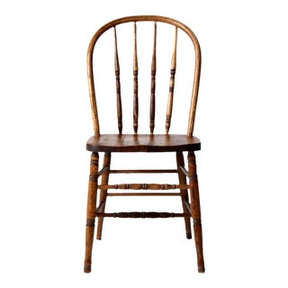 Antique Spindle Back Dining Chair For Sale
