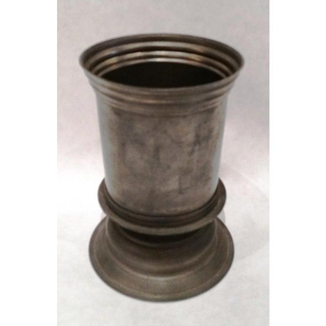 English Vintage Pewter Vase - Image 5 of 5
