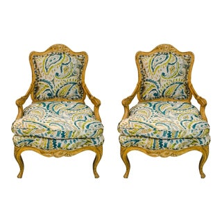 Pair of French Style Chairs For Sale