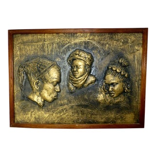 Study of Three African Women in Relief