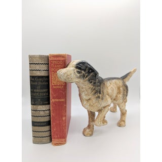 20th Century Figurative Black and White Cast Iron Pointer Dog Door Stop Preview