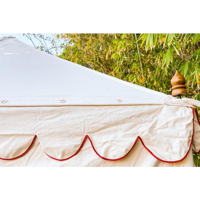 Canvas Contemporary Maharani Garden Tent For Sale - Image 7 of 13