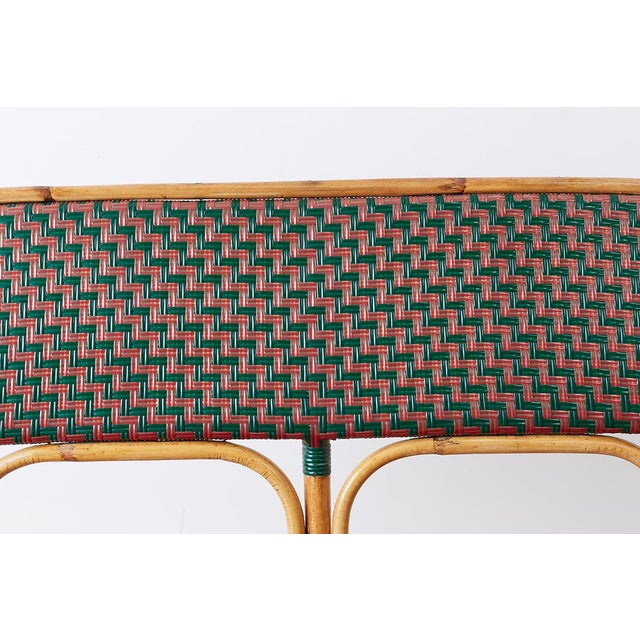 French Maison Gatti Rattan Bamboo Banquette Settee For Sale In San Francisco - Image 6 of 13