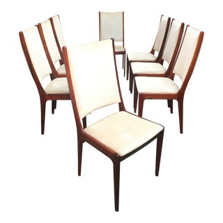 Danish Modern Rosewood Dining Chairs-Set of 8 For Sale