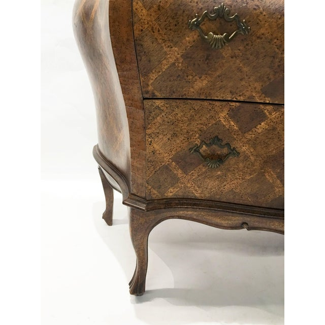 Italian Bombe Parquetry Commode For Sale - Image 4 of 10