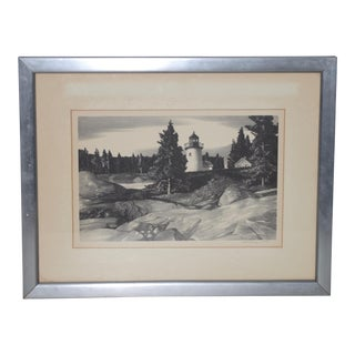 "Stow Wengenroth ""Inlet Light"" Limited Edition Pencil Signed Lithograph C.1937 For Sale"