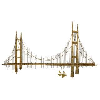 "Curtis Jere Golden Gate ""Bridge"" Sculpture For Sale"