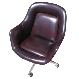 Mid Century Leather Executive Chair by Max Pearson for Knoll For Sale