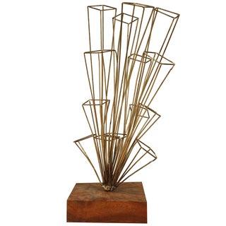 Sculptural Brass Cluster Sculpture For Sale