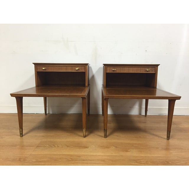 Mid Century Sculpted End Tables - a Pair - Image 3 of 11