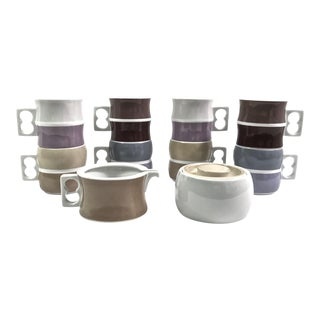 Block Chromatics Tea Service, 10pcs For Sale