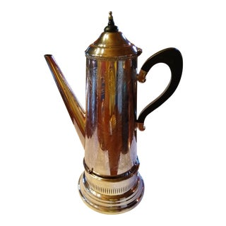 Mappin & Webb Silver Plated Coffee Server & Burner For Sale