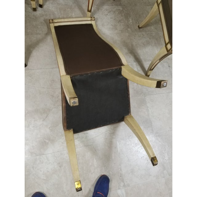 1940s Vintage Hollywood Regency Dining Chairs- 6 Pieces For Sale - Image 10 of 13