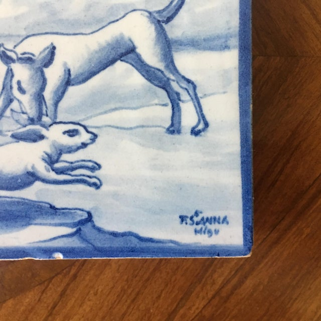 Vintage Portuguese Blue and White Tiles-A Pair For Sale In South Bend - Image 6 of 8