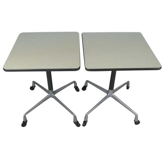 Eames for Herman Miller Aluminum Group Tables - a Pair For Sale