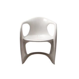 1960s Vintage Joe Colombo White Acrylic Armchair For Sale