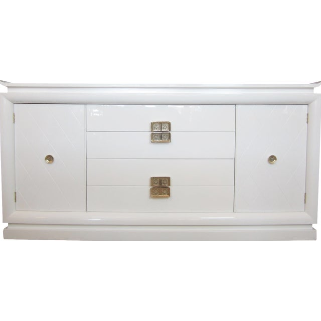 White Lacquer Chinoiserie Credenza - Image 1 of 10