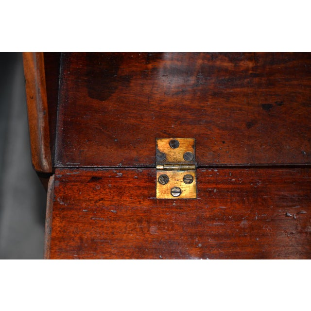 Mahogany 19th C. Mahogany Drop Front Bureau W/ Beautiful Inlay For Sale - Image 7 of 9