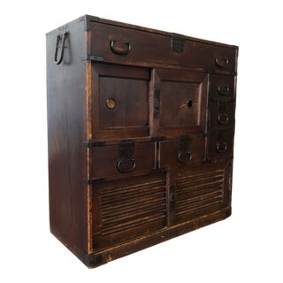 Edo Period Japanese Tansu Chest For Sale