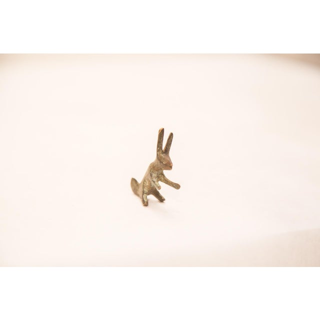 Vintage Oxidized Rabbit Bronze Gold Weight - Image 6 of 6