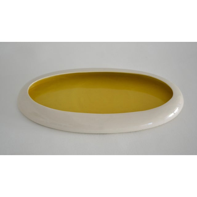 1930s 1930s Mid-Century Yellow and White Ceramic Bowl For Sale - Image 5 of 13