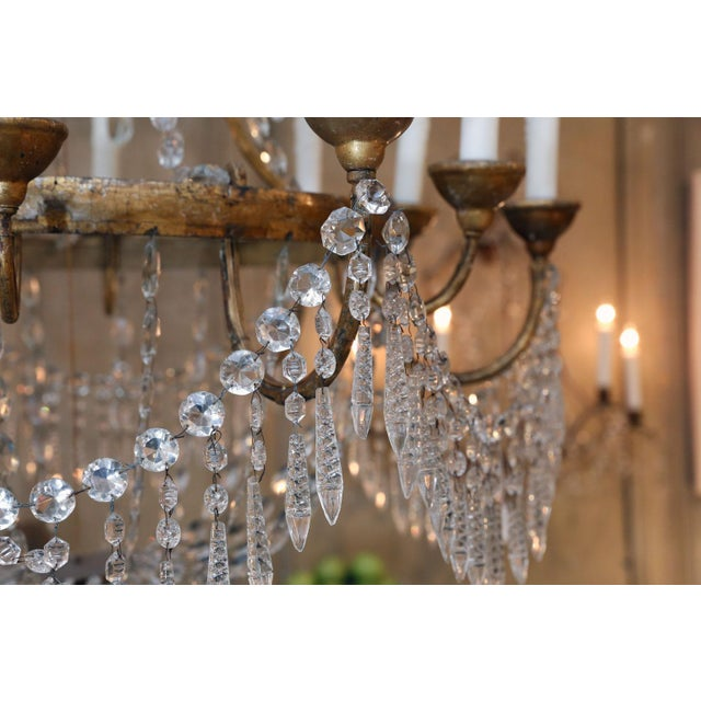Large-Scale Neoclassical Chandelier For Sale - Image 4 of 13