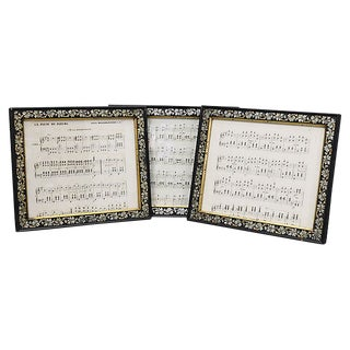 Antique French Sheet Music - Set of 3 For Sale