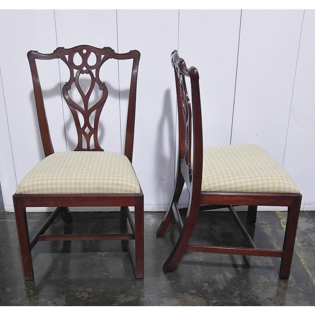 """English 1990s English Chippendale Dining Chairs by """"Restall, Brown & Clennell Ltd"""" - Set of 12 For Sale - Image 3 of 13"""