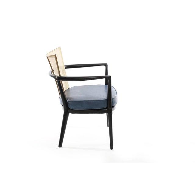 Mid-Century Modern 1950s Bert England for Johnson Ebonized Lounge Chair For Sale - Image 3 of 7