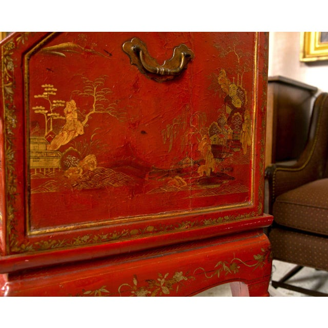 Antique 19th Century Painted Chinoiserie Vanity For Sale - Image 9 of 10
