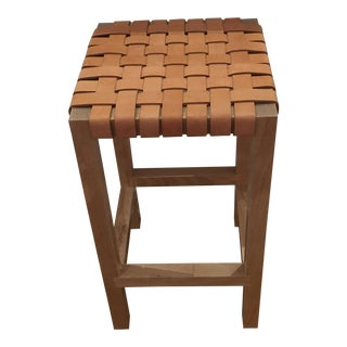 Leather Strap Counter Stool