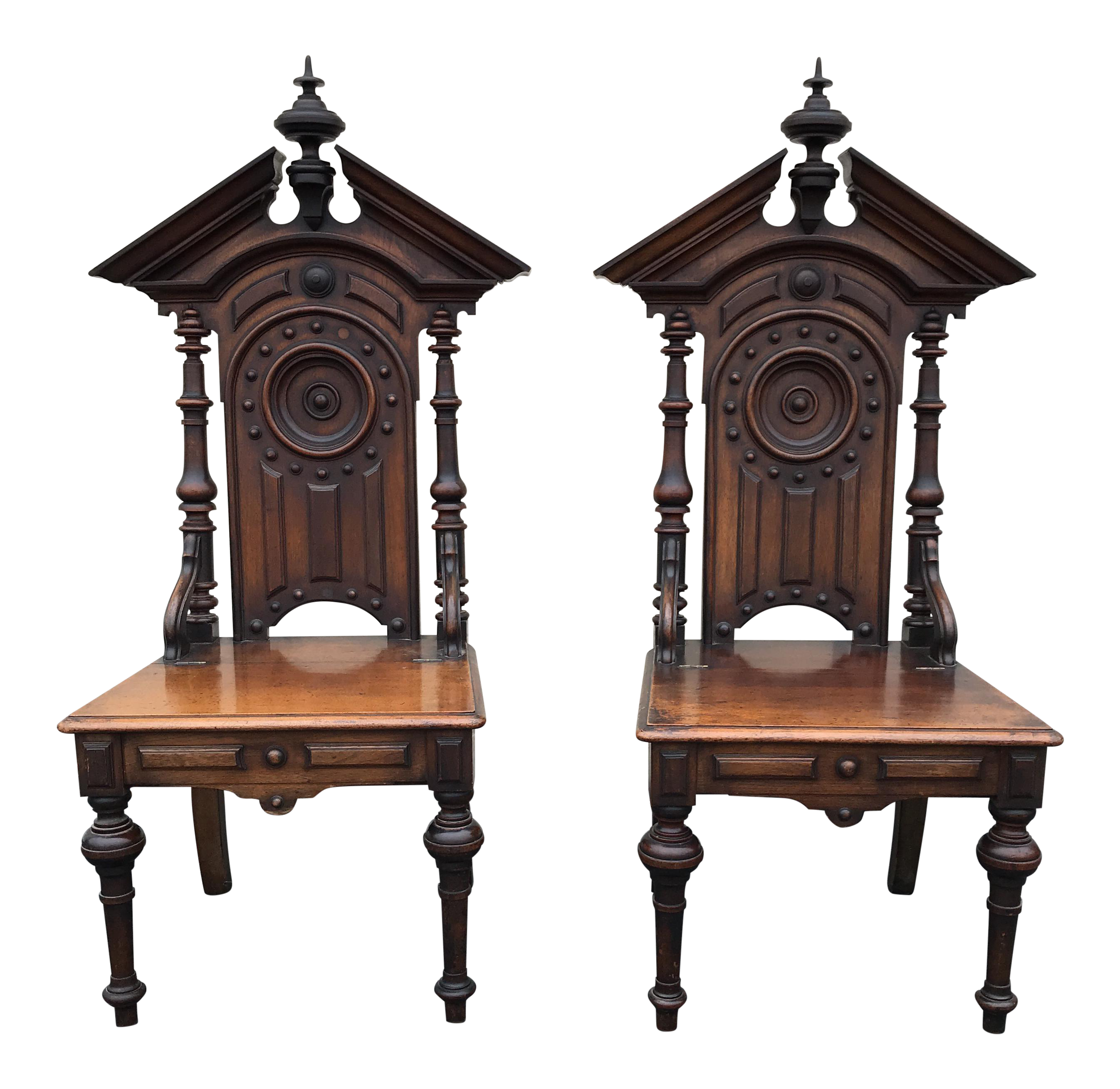 Antique Gothic Style Church Chairs - A Pair  sc 1 st  Chairish & Antique Gothic Style Church Chairs - A Pair | Chairish