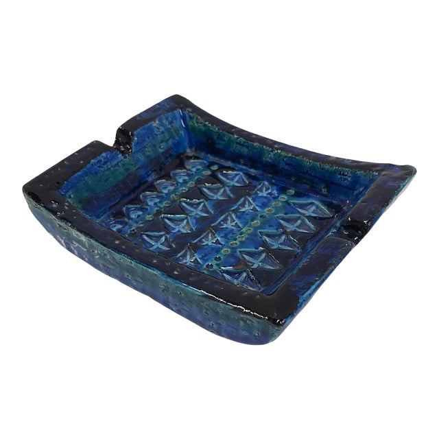 1960s Aldo Londi for Bitossi Italian Modern Rimini Blue Small Ashtray For Sale