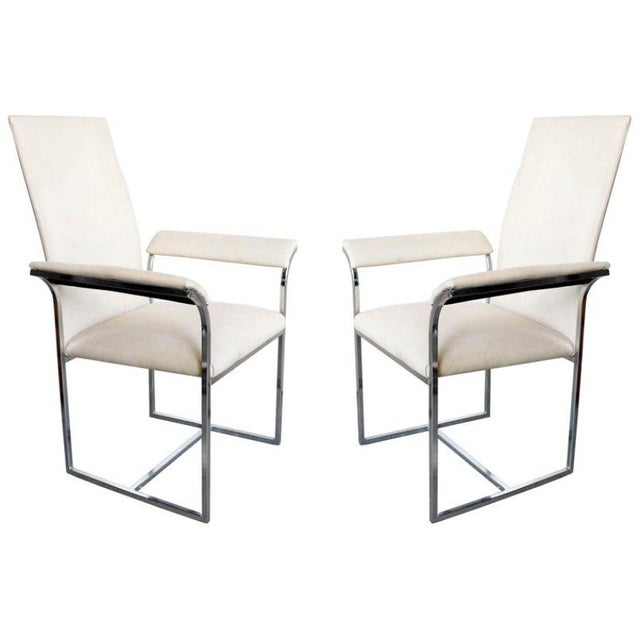 Metal A Pair of Chairs by Milo Baughman for Thayer Coggin For Sale - Image 7 of 7
