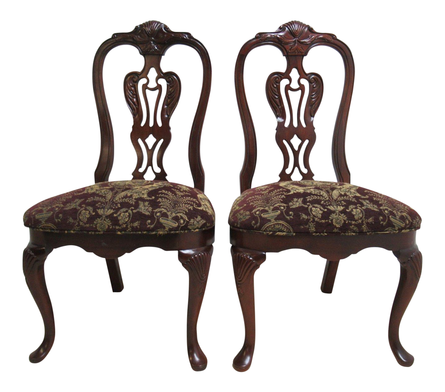 Thomasville Solid Mahogany Chippendale Dining Chairs - A Pair  sc 1 st  Chairish & Thomasville Solid Mahogany Chippendale Dining Chairs - A Pair | Chairish