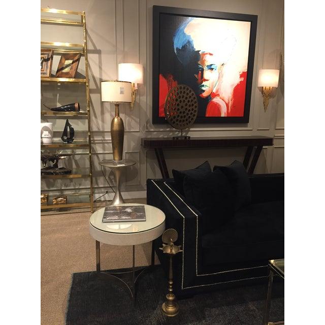 20th Century Vintage Brass Flamingo Pillar For Sale - Image 10 of 11