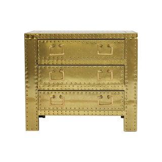 Sarreid Ltd. Brass Chest of Drawers For Sale