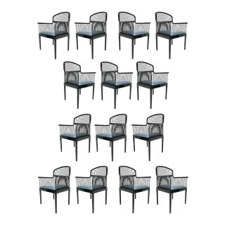 """Set of 14 Vintage Davis Allen """"Andover"""" Chairs for Stendig For Sale"""