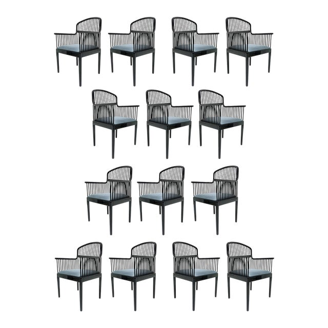 "Set of 14 Vintage Davis Allen ""Andover"" Chairs for Stendig For Sale"