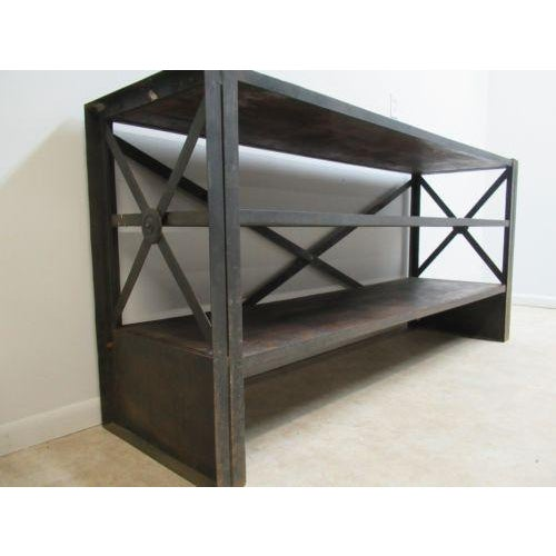 2000 - 2009 Industrial Reclaimed Steel Console For Sale - Image 5 of 6