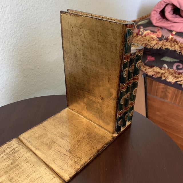 Green Traditional Italian Faux Book Bookends - a Pair For Sale - Image 8 of 10