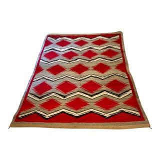 Navajo Ganado Rug Circa Early 1930's - 5′4″ × 7′6″ For Sale