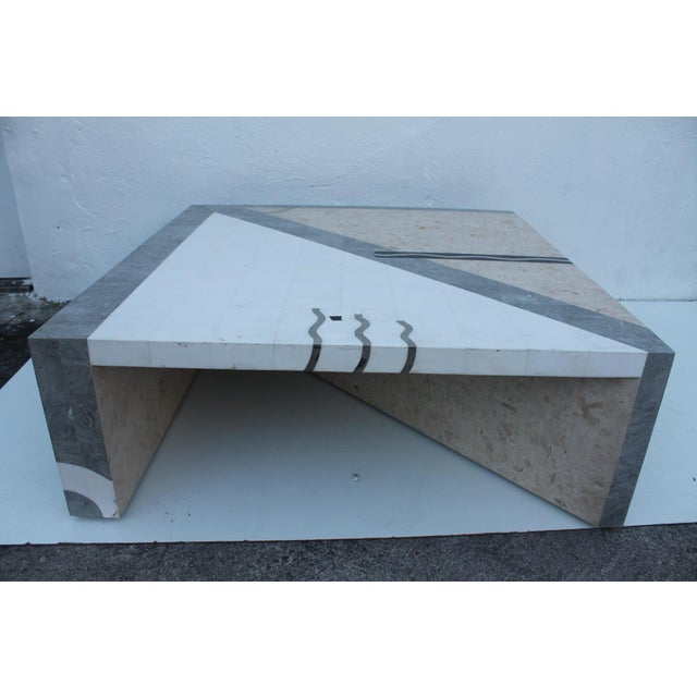 Maitland Smith Tessellated Stone Square Coffee Table - Image 4 of 11