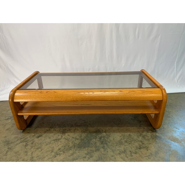 1970s 1970s Mid-Century Modern Lou Hodges Oak Coffee Table For Sale - Image 5 of 7